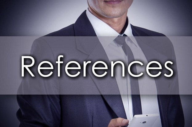 References written in text