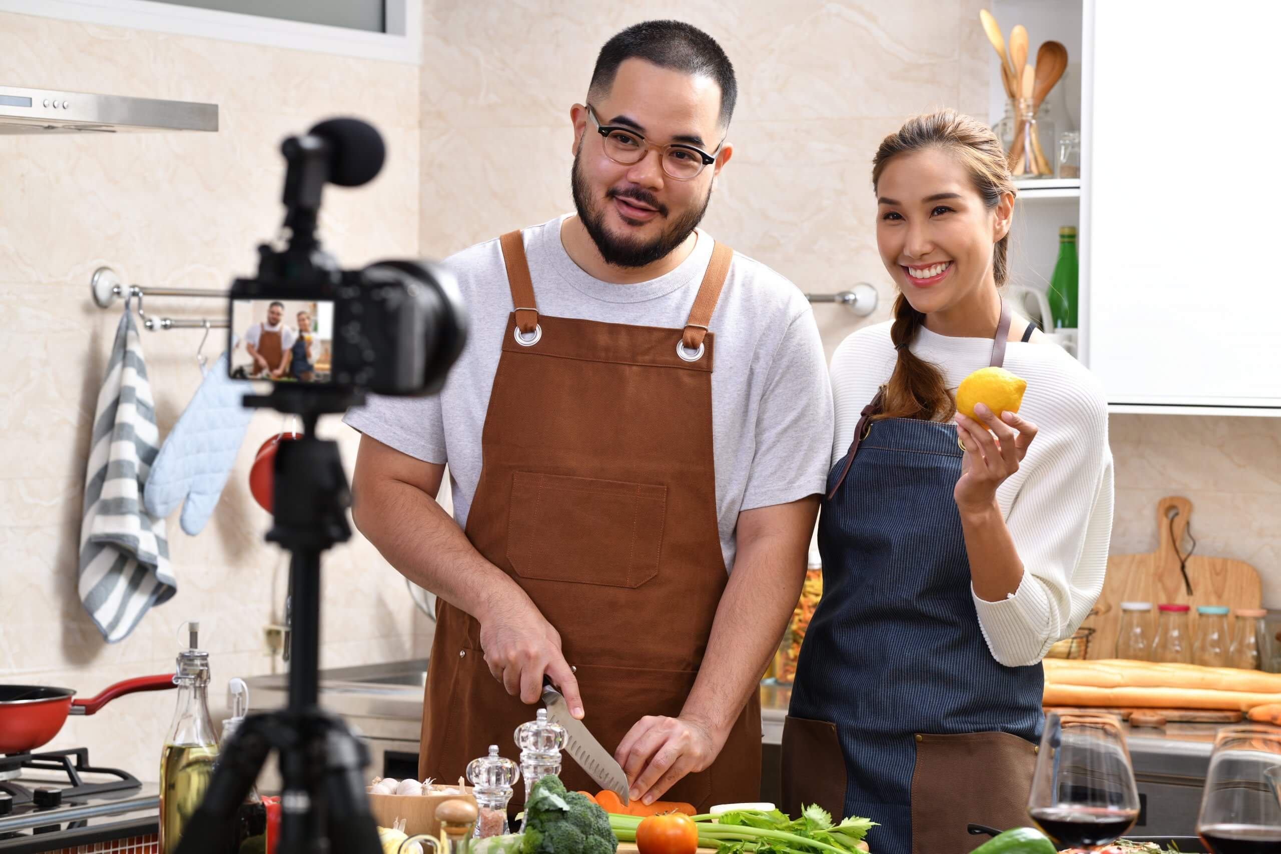recording online cooking class