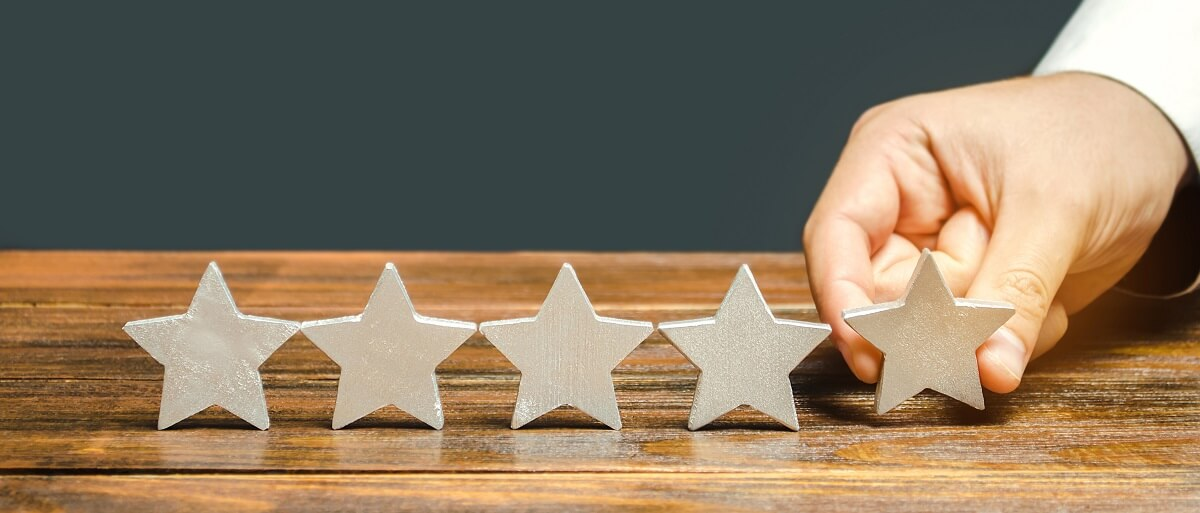 star rating before review writing