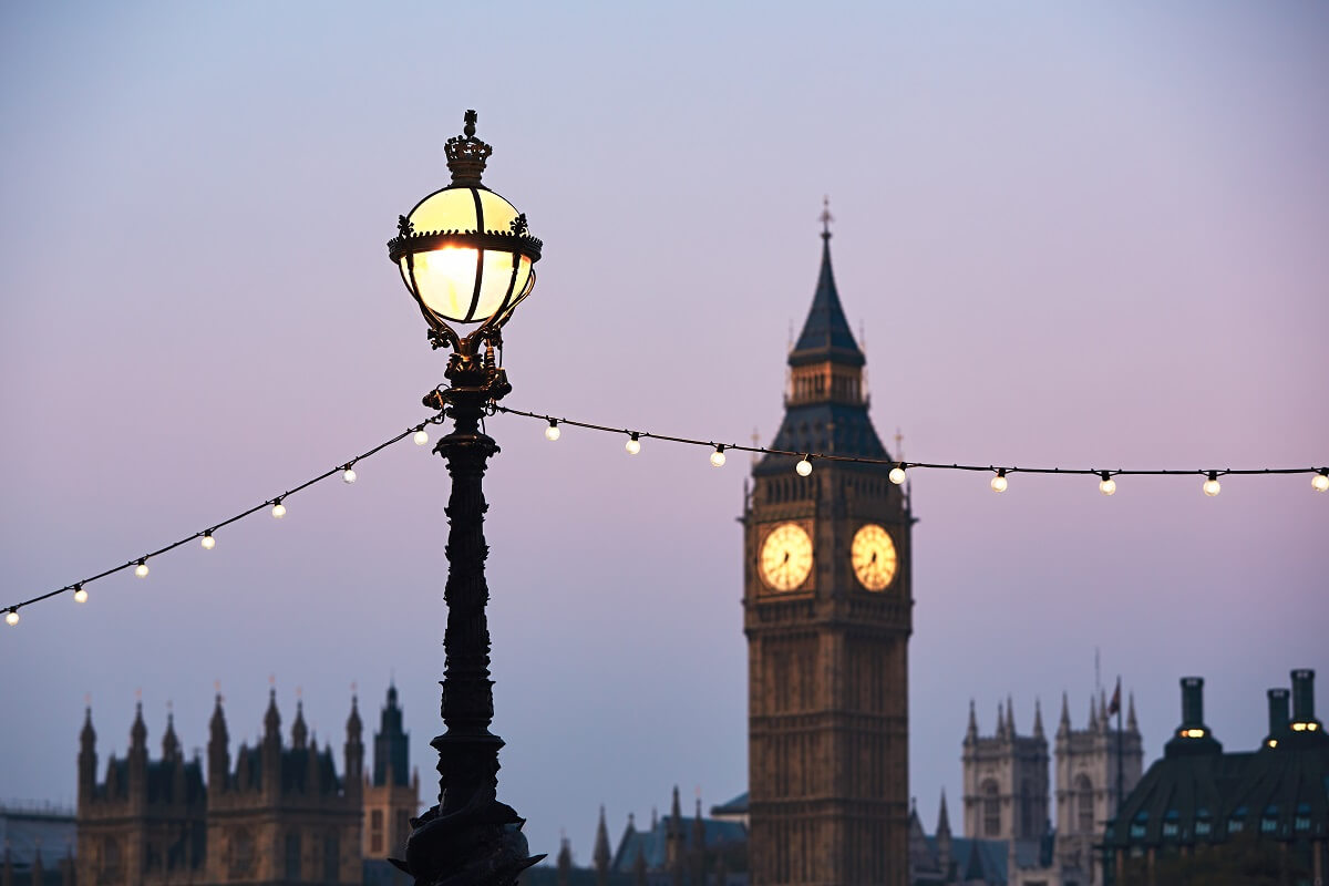 The Big Ben and House of Parliament at the sunrise - London, The United Kingdom of Great Britain and Northern Ireland