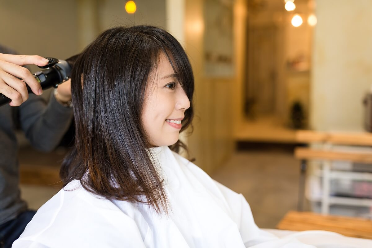 Woman at Hair and Beauty Spa for grooming herself as per the latest hair and beauty trend