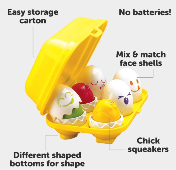 TOMY Toomies Hide & Squeak Eggs as easter gifts for children