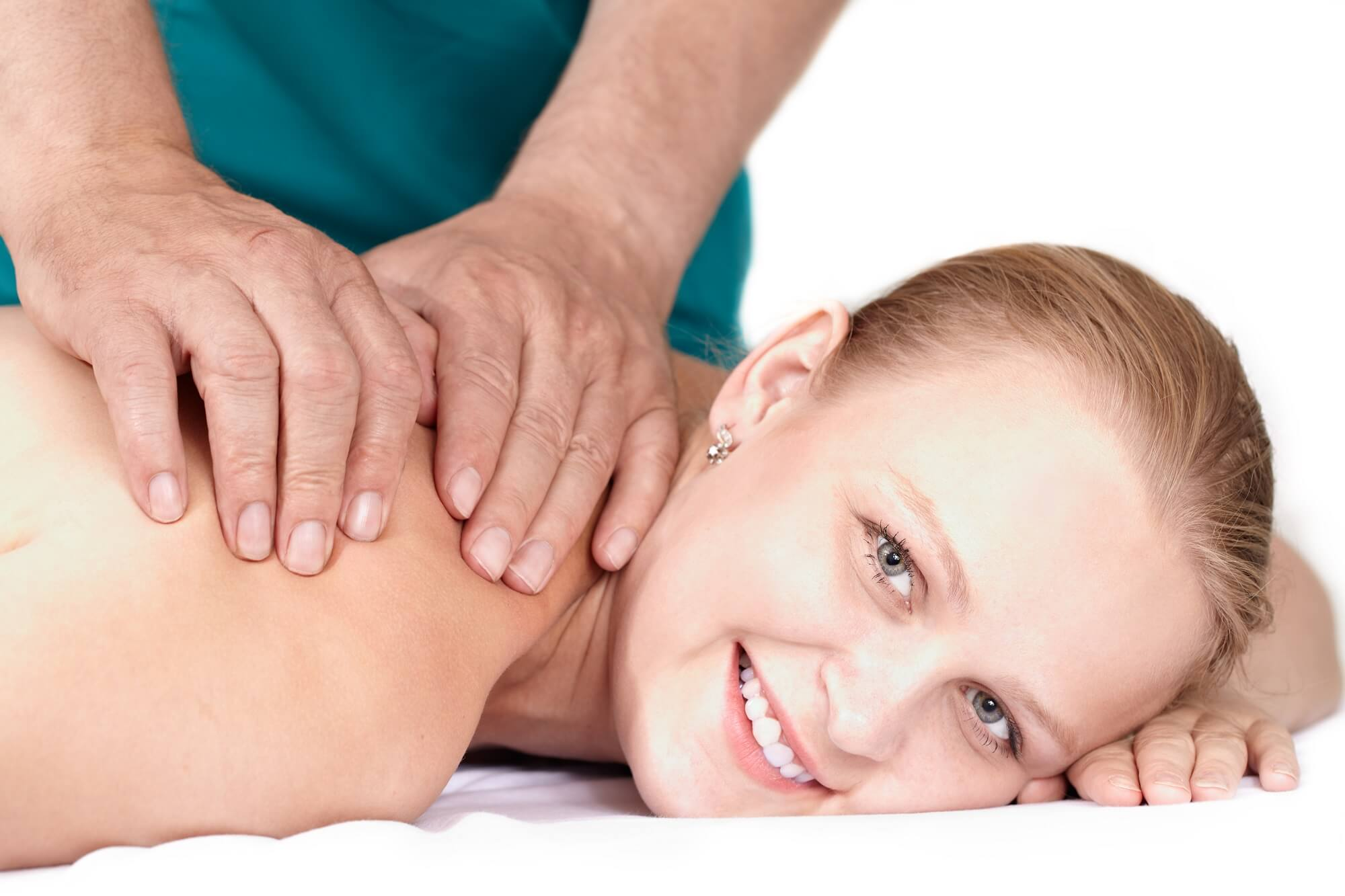 women smiling during her medical spa session