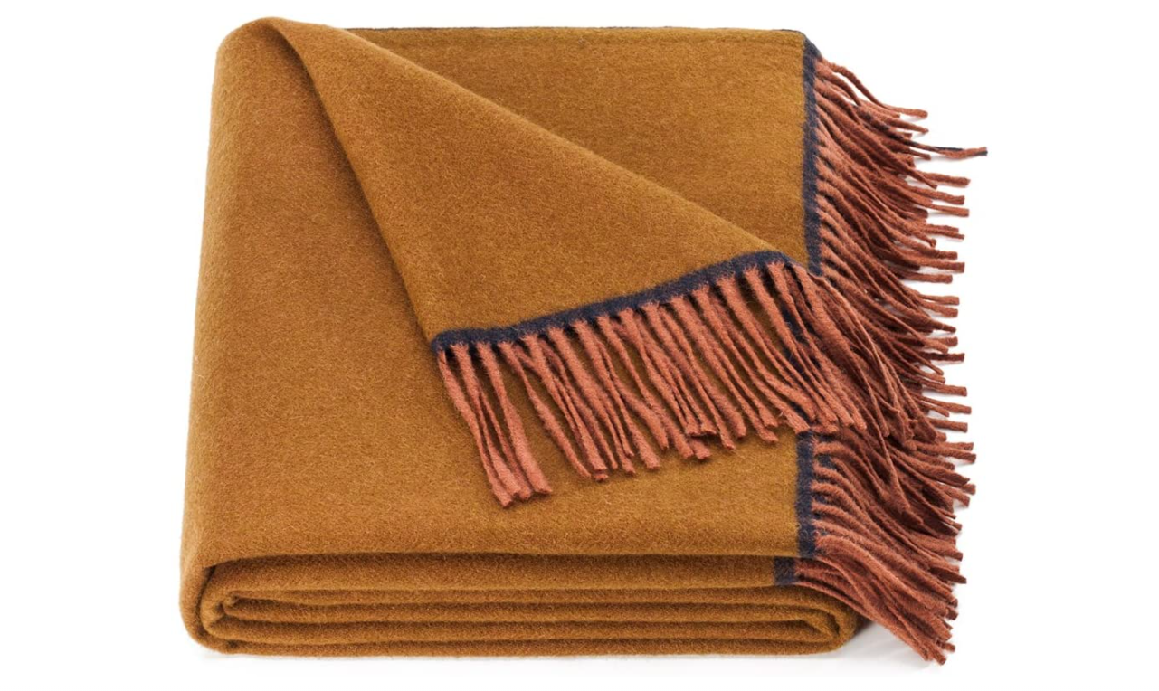 Spencer & Whitney Pure Wool throw Blanket