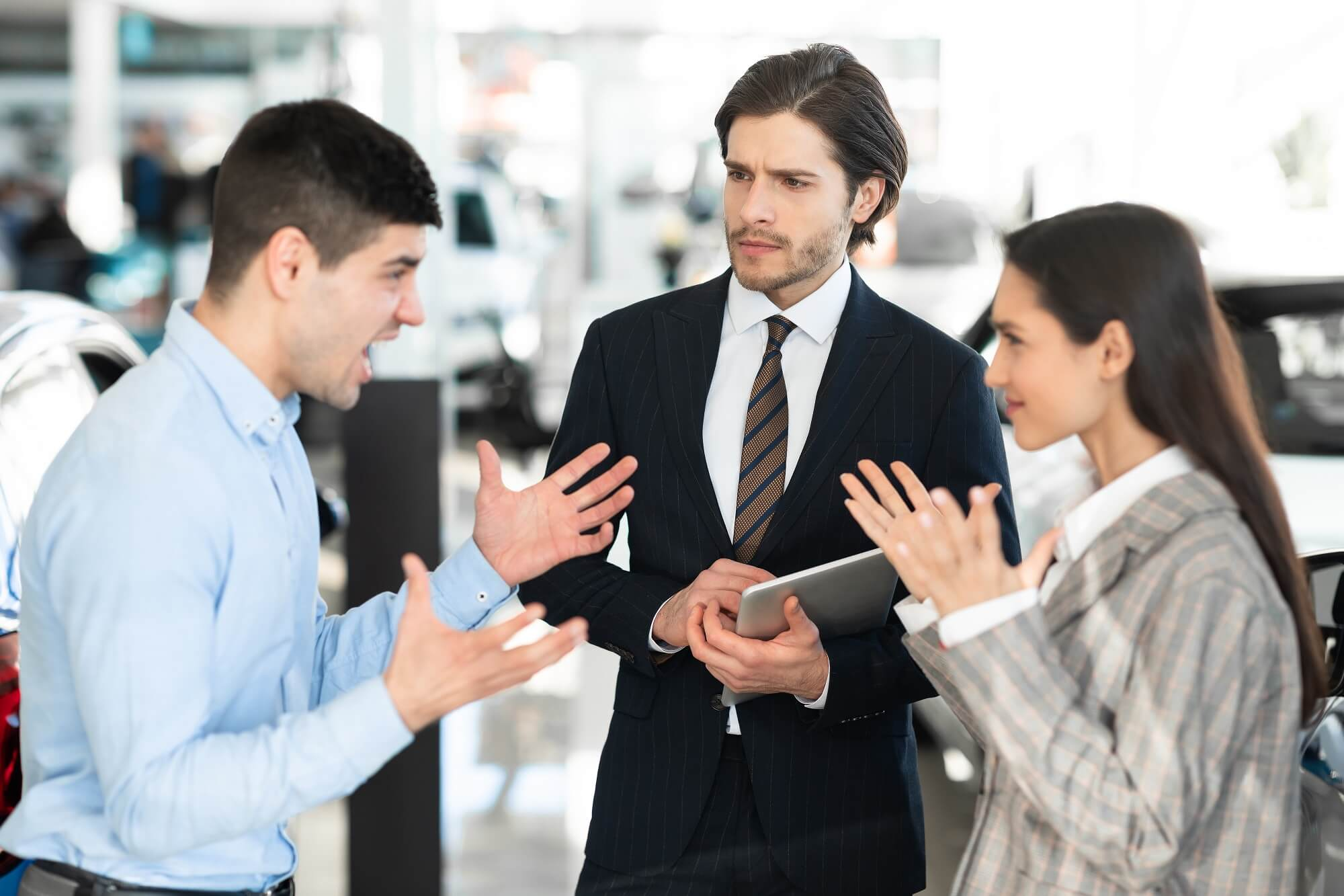 how to remain calm in front of unhappy customer