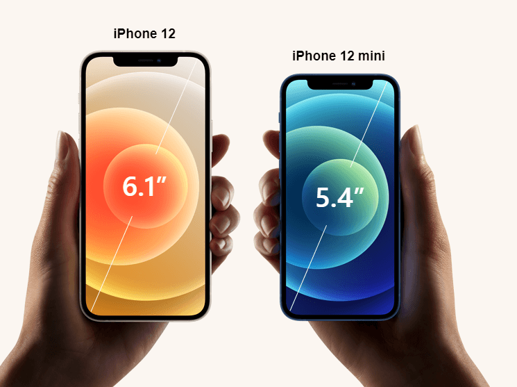 comparison between apple iphone 12 mini and iphone 12
